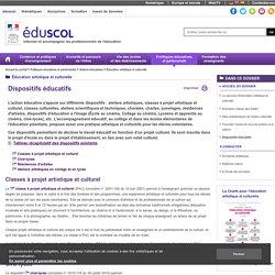 Éducation artistique et culturelle - Dispositifs éducatifs