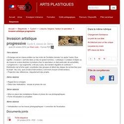 Invasion artistique progressive - ARTS PLASTIQUES