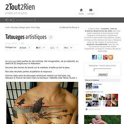 Tatouages oeuvres d'art