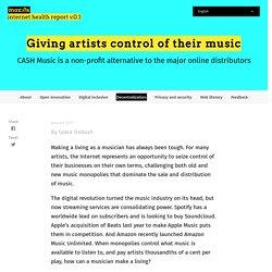 Redonner aux artistes le contrôle de leur musique – Bulletin de santé d'Internet