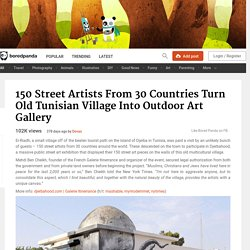 150 Street Artists From 30 Countries Turn Old Tunisian Village Into Outdoor Art Gallery
