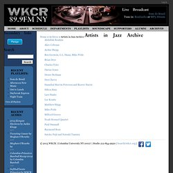 Artists in Jazz Archive | WKCR 89.9FM NY