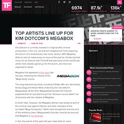Top Artists Line Up for Kim Dotcom's Megabox