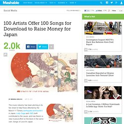 100 Artists Offer 100 Songs for Download to Raise Money for Japan