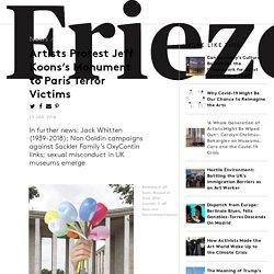 Artists Protest Jeff Koons's Monument to Paris Terror Victims