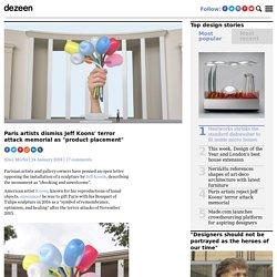 Paris artists reject Jeff Koons' terror attack memorial