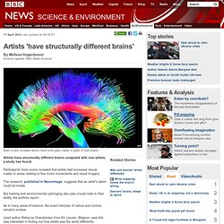 Artists 'have structurally different brains'
