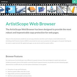 ArtistScope Secure Web Browser