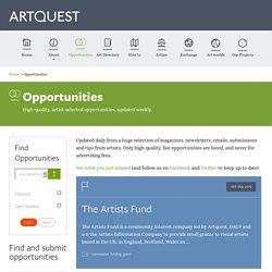 Artquest>Opportunities