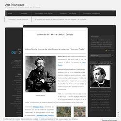 W. Morris-ARTS & CRAFTS histoire -F
