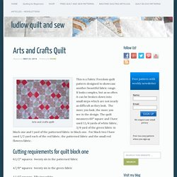 Arts and Crafts Quilt - Ludlow Quilt and Sew