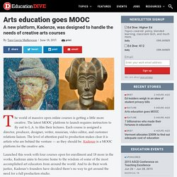 Arts education goes MOOC