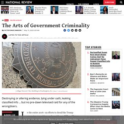 The Arts of Government Criminality