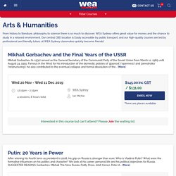 Arts & Humanities - WEA Sydney