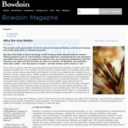 Why the Arts Matter - Bowdoin Magazine