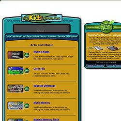 Arts and Music games on Play Kids Games .com