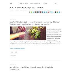 arts-numeriques.info tumblr
