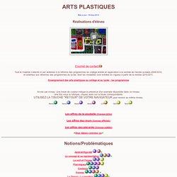 ARTS PLASTIQUES : collège, lycée.