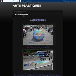 ARTS PLASTIQUES: De l'anamorphose...