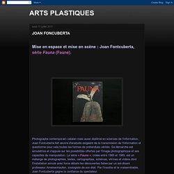 ARTS PLASTIQUES: JOAN FONCUBERTA