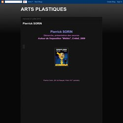 ARTS PLASTIQUES: Pierrick SORIN