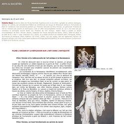 Valérie Naas: PLINE L'ANCIEN ET LA RÉFLEXION SUR L'ART DANS L'ANTIQUITÉ