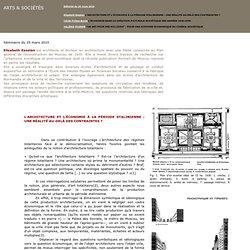 Artchitecture et économie sos Staline