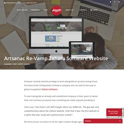 Artsanac Re-Vamp Zahara Software Website