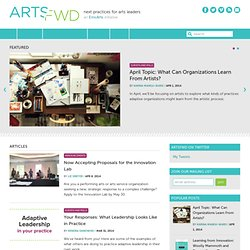 ArtsFwd | next practices for arts leaders