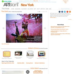 Artists, Exhibits, Galleries and Museums in New York