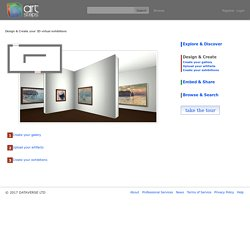 Design & Create your 3D virtual exhibitions