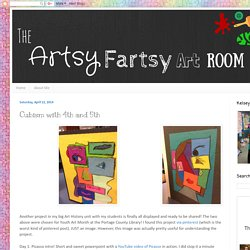 The Artsy Fartsy Art Room: Cubism with 4th and 5th
