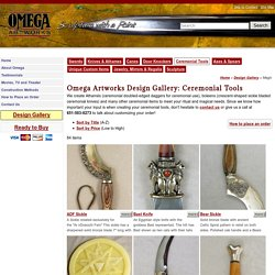 Omega Artworks Catalog of Ideas: Ceremonial Tools