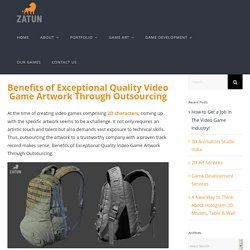 Benefits of Exceptional Quality Video Game Artwork Through Outsourcing
