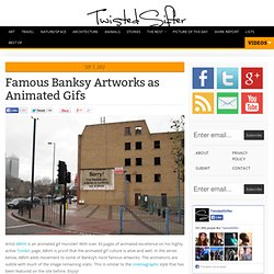 Famous Banksy Artworks as Animated Gifs