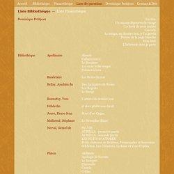 liste des parutions