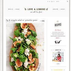 fig & arugula salad w/ pistachio pesto