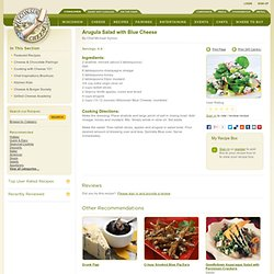 Recipe 10 - Arugula Salad with Wisconsin Blue Cheese