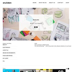 aruliden | Brand Strategy & Product Design