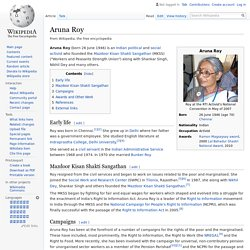 Aruna Roy - Wikipedia