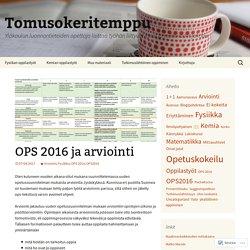 OPS 2016 ja arviointi