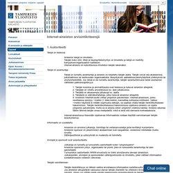 Internet-aineiston arviointikriteerejä - Oppaat ja ohjeet - Tampereen yliopiston kirjasto