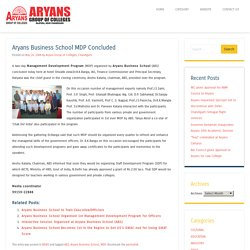 Aryans Business School MDP Concluded