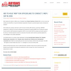 Aryans Business School To Hold 'MDP' for Officers