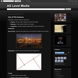 AS Level Media: Use of The Camera,