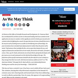 As We May Think - Magazine