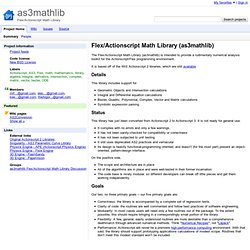 as3mathlib - Flex/Actionscript Math Library