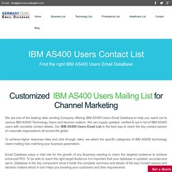 Ibm As Users Email List