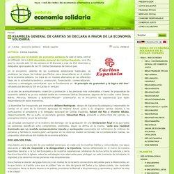 Asamblea General de Cáritas se declara a favor de la economía solidaria