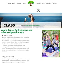 Asana Course for beginners